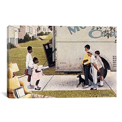 iCanvas 'Moving in (New Kids In The Neighborhood)' by Norman Rockwell Painting Print on Canvas