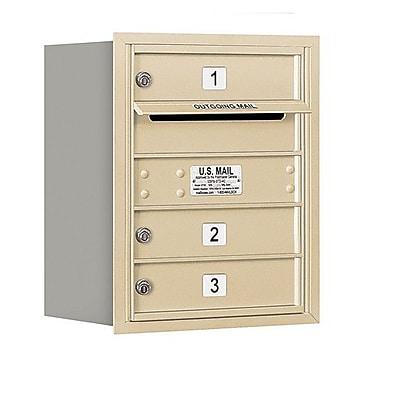 Salsbury Industries 3 Door Rear Load 4C Horizontal Mail Center; Bronze