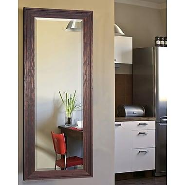 Loon Peak Barnwood Brown Full Length Beveled Body Mirror; 64.25'' H x 26.25'' W x 0.75'' D