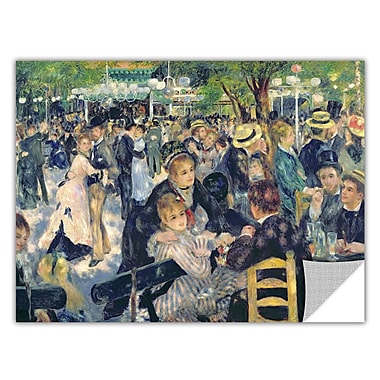 ArtApeelz 'Ball at the Moulin de la Galette' by Pierre Renoir Painting Print Removable Wall Decal