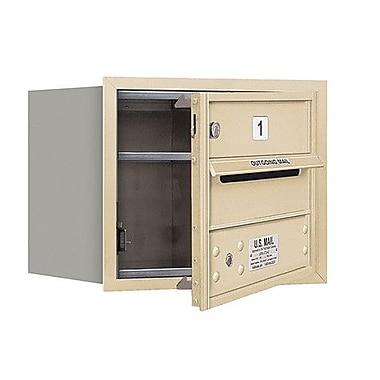 Salsbury Industries 1 Door Front Load 4C Horizontal Mail Center; Sandstone