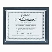 DAX MANUFACTURING INC. Award Plaque, Wood/Acrylic Frame, fits up to 8-1/2 x 11, Black