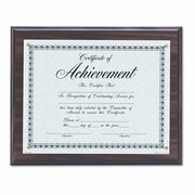 DAX MANUFACTURING INC. Award Plaque, Wood/Acrylic Frame, fits up to 8-1/2 x 11, Walnut