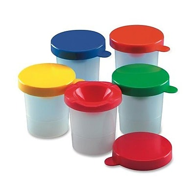 CHARLES LEONARD, INC Paint Cups, w/ Colored Lid, 10 per Pack, Assorted Colors WYF078276605826