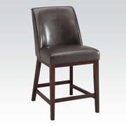 A&J Homes Studio Amanda 29'' Bar Stool w/ Cushion (Set of 2); Espresso