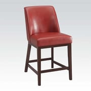 A&J Homes Studio Amanda 29'' Bar Stool w/ Cushion (Set of 2); Red