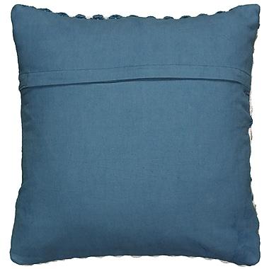 Highland Dunes Asher Cotton Throw Pillow; Black/Gray/White