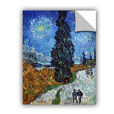 ArtWall Country Road In Provence by Vincent Van Gogh Art Appeelz Removable Wall Mural