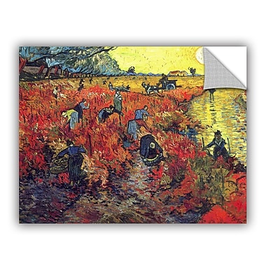 ArtWall Red Vinyard At Aries by Vincent Van Gogh Art Appeelz Removable Wall Mural