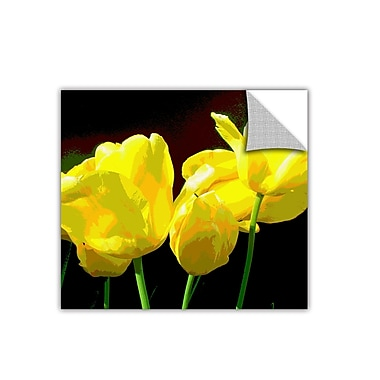 ArtWall ArtApeelz 'Yellow Tulips 2' by Herb Dickinson Graphic Art Removable Wall Decal