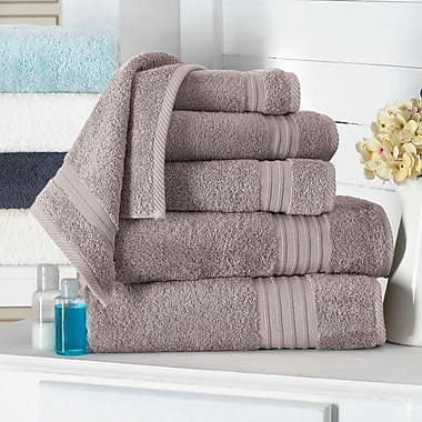 Alcott Hill 100pct Turkish Cotton Hand Towel (Set of 4); Taupe