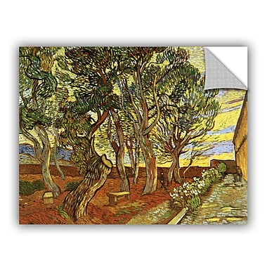 ArtWall A Corner of Saint-Paul Hospital by Vincent Van Gogh Art Appeelz Removable Wall Mural