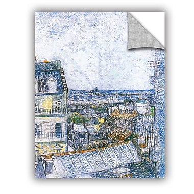 ArtWall Wall Paris From Vincent's Room by Vincent Van Gogh Art Appeelz Removable Wall Mural