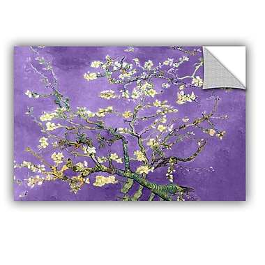 Almond Blossom-Interpretation In Iris Violet by Vincent Van Gogh Art Appeelz Removable Wall Mural