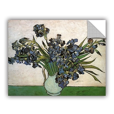 Vase w/ Violet Irises Against A Pink Background by Vincent Van Gogh Art Appeelz Removable Wall Mural