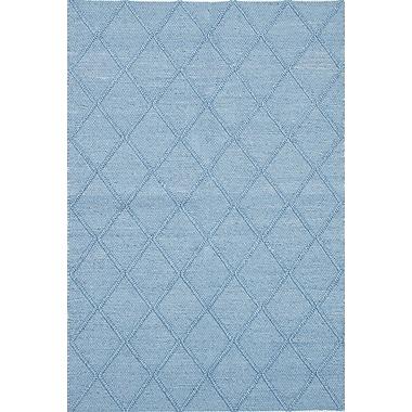 ECARPETGALLERY Diamond Handmade Blue Area Rug
