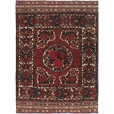ECARPETGALLERY Ghafkazi Hand-Knotted Red Area Rug