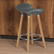 Varick Gallery Scalise 25'' Bar Stool; Gray