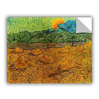 ArtWall Evening Landscape w/ Rising Moon by Vincent Van Gogh Art Appeelz Removable Wall Mural