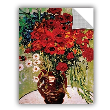 ArtWall Dasies And Poppies by Vincent Van Gogh Art Appeelz Removable Wall Mural