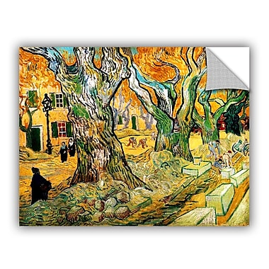 ArtWall The Road Menders by Vincent Van Gogh Art Appeelz Removable Wall Mural