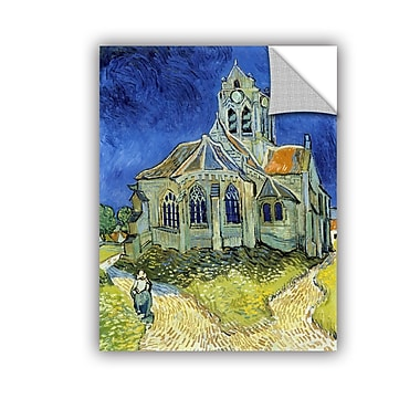 ArtWall The Church At Auvers by Vincent Van Gogh Art Appeelz Removable Wall Mural