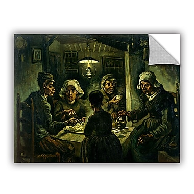 ArtWall The Potato Eaters by Vincent Van Gogh Art Appeelz Removable Wall Mural