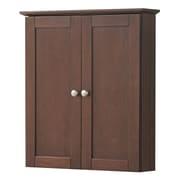 Hazelwood Home Merlo 21'' Wall Cabinet; Cherry
