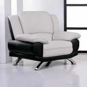 Hokku Designs Caelyn Leather Club Chair; Black