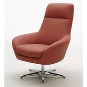 Hokku Designs Navis Leather Lounge Chair; Orange