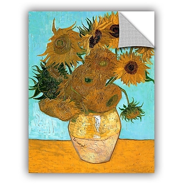 ArtWall Vases w/ Twelve Sunflowers by Vincent Van Gogh Art Appeelz Removable Wall Mural