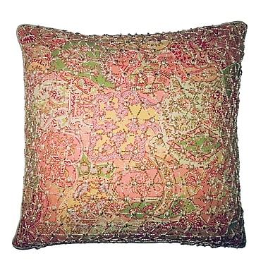 R&MIndustries Vie En Rose Knitted Overlay Throw Pillow