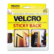 VELCRO USA, INC. Sticky-Back Hook and Loop Fastener Tape w/ Dispenser, 3/4 X 15 Ft. Roll; Beige