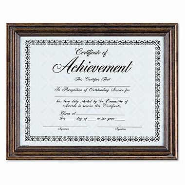 DAX MANUFACTURING INC. Antique Colored Document Metal Frame w/ Certificate, 8.5'' x 11''