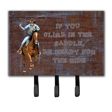 Roper Horse If You Climb in The Saddle, Be Ready For The Ride Leash Holder and Key Hook