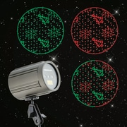 Starscapes Premium Instant Laser Projection Light with Color Isolation & Speed Control, Red & Green Snowflakes & Trees