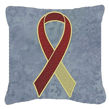 Caroline's Treasures Ribbon for Head and Neck Cancer Awareness Indoor/Outdoor Throw Pillow