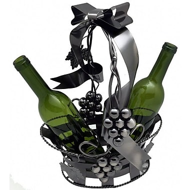 Three Star Basket Holding 2 Bottle Tabletop Wine Rack