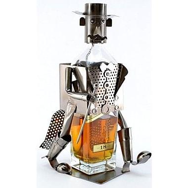 Three Star Whisky 1 Bottle Tabletop Wine Rack