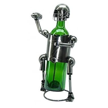 Red Barrel Studio Fraizer Football Player 1 Bottle Tabletop Wine Rack