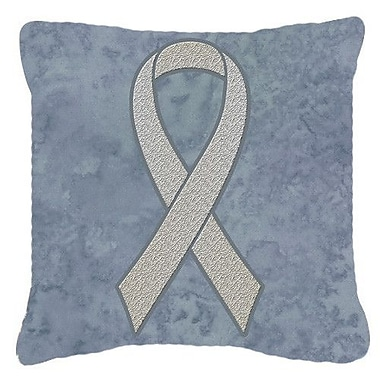 Caroline's Treasures Ribbon for Lung Cancer Awareness Indoor/Outdoor Throw Pillow