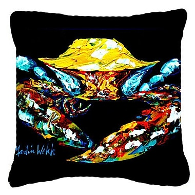 Caroline's Treasures Winner Winner Black Fiddler Crab Indoor/Outdoor Throw Pillow