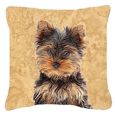 Caroline's Treasures Yorkie Puppy/ Yorkshire Terrier Indoor/Outdoor Throw Pillow