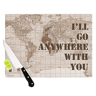 KESS InHouse I'll Go Anywhere w/ You by Catherine Holcombe Map Cutting Board