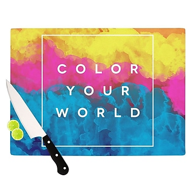KESS InHouse Color Your World by Galaxy Eyes Rainbow Paint Cutting Board