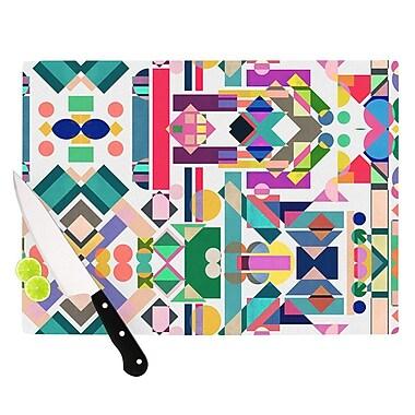 KESS InHouse Geometry 2B by Mareike Boehmer Abstract Rainbow Cutting Board