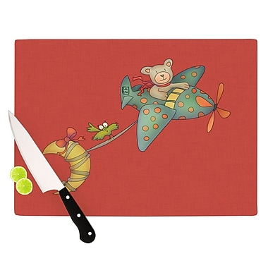 KESS InHouse I Will Bring You The Moon by Carina Povarchik Bear Cutting Board
