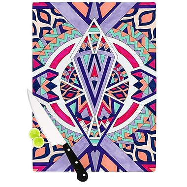 KESS InHouse Abstract Journey by Pom Graphic Design Circular Tribal Cutting Board