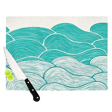 KESS InHouse The Calm and Stormy Seas by Pom Graphic Design Cutting Board