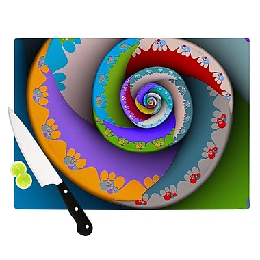 KESS InHouse Flor Essence by Michael Sussna Rainbow Spiral Cutting Board